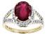 Mahaleo® Ruby 14k Yellow Gold Ring 3.84ctw