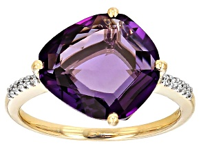 Purple Amethyst 14k Yellow Gold Ring 4.25ctw