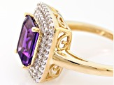 Purple Amethyst 14k Yellow Gold Ring 2.42ctw