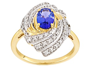 Blue Tanzanite 14k Yellow Gold Ring .86ctw
