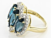 London Blue Topaz 14k Yellow Gold Ring 8.23ctw