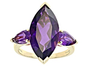 Purple Amethyst 14k Yellow Gold Ring 7.80ctw