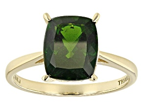 Green Chrome Diopside 14k Yellow Gold Ring 2.37ct