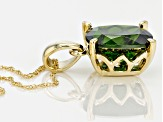 Green Chrome Diopside 14k Yellow Gold Pendant With Chain 2.37ct