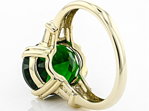 Green Chrome Diopside 14k Yellow Gold Ring 4.15ctw