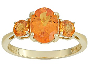 Orange Spessartite Garnet 14k Yellow Gold Ring 2.28ctw