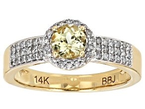 Color Change Zultanite® And White Diamond 14k Yellow Gold Ring .70ctw