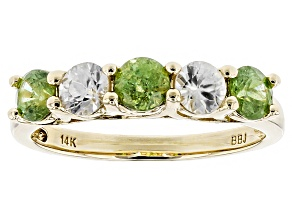 Green Demantoid 14k Yellow Gold Ring 1.34ctw