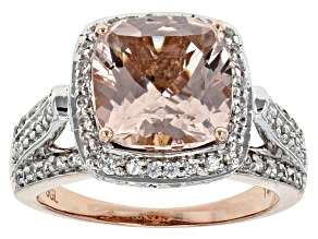 Pink Morganite 14k Rose Gold Ring 3.95ctw