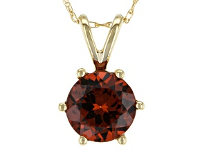 Orange Malaya Garnet 14k Yellow Gold Pendant With Chain 1.45ctw