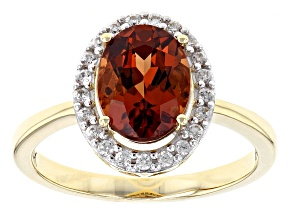 Orange Malaya Garnet 14k Yellow Gold Ring 2.29ctw