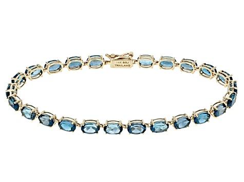 London Blue Topaz 14k Yellow Gold Bracelet 11 63ctw