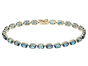 London Blue Topaz 14k Yellow Gold Bracelet 11.63ctw