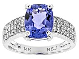 Blue Tanzanite 14k White Gold Ring 2.40ctw