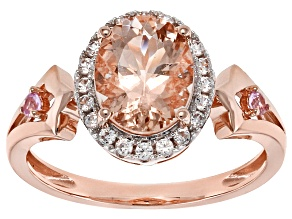Pink Morganite 14k Rose Gold Ring 1.66ctw