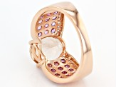 Pink Morganite 14k Rose Gold Ring 4.24ctw