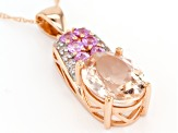 Pink Morganite 14k Rose Gold Pendant With Chain 2.28ctw