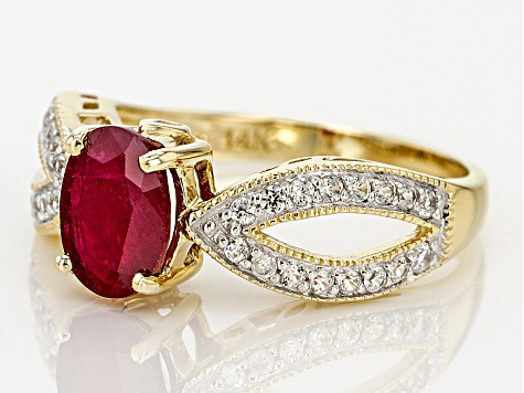 Red Ruby 14k Yellow Gold Ring 1.65ctw