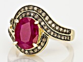 Red Ruby 14k Yellow Gold Ring 2.50ctw