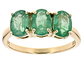 Green Zambian Emerald 14k Yellow Ring 1.91ctw