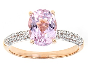 Pink Kunzite 10k Rose Gold Ring 2.33ctw