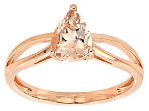 Pink Morganite 14k Rose Gold Ring .85ct