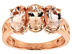 Pink Morganite 14k Rose Gold Ring 1.88ctw