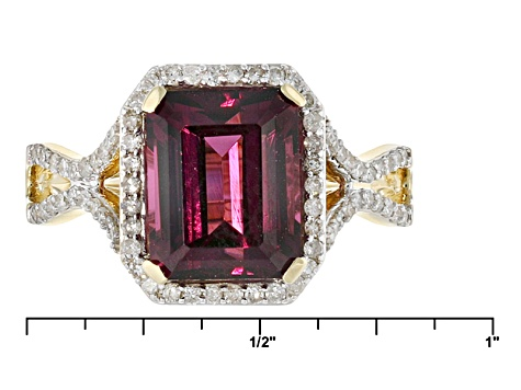 Grape Color Garnet 14k Yellow Gold Ring 5.04ctw