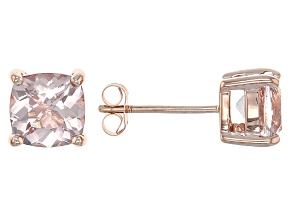 Pink Morganite 14k Rose Gold Earrings 1.42ctw