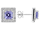 Blue Tanzanite 14k White Gold Earrings 2.51ctw