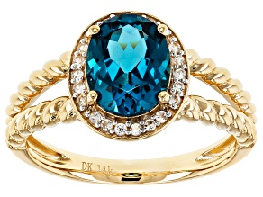 London Blue Topaz 14k Yellow Gold Ring 2.43ctw