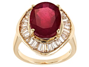 Mahaleo Ruby 10k Yellow Gold Ring 9.15ctw