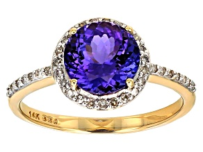 Blue Tanzanite 14k Yellow Gold Ring 2.07ctw