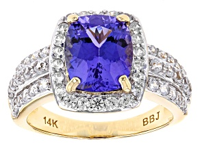 Blue Tanzanite 14k Yellow Gold Ring 3.68ctw