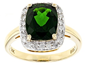 Green Chrome Diopside 14k Yellow Gold Ring 2.79ctw
