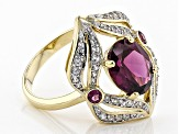 Grape Color Garnet 14k Yellow Gold Ring 2.83ctw