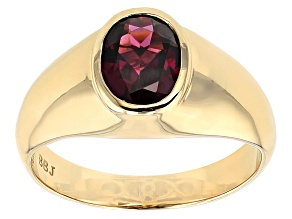 Grape Color Garnet 14 Yellow Gold Ring 1.78ct