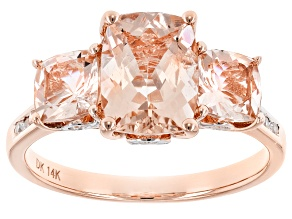 Pink Morganite 14k Rose Gold Ring 2.80ctw