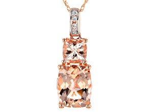 Pink Morganite 14k Rose Gold Pendant With Chain 2.12ctw