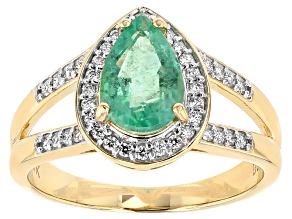 Green Ethiopian Emerald 14k Yellow Gold Ring 1.23ctw