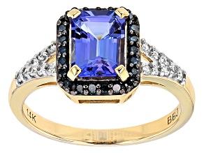Blue Tanzanite 14k Yellow Gold Ring 1.44ctw