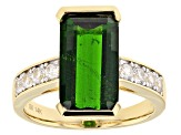 Green Chrome Diopside 14k Yellow Gold Ring 5.54ctw.