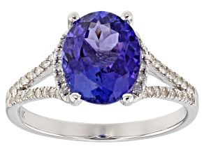 Blue Tanzanite Rhodium Over 14k White Gold Ring 2.53ctw