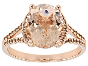 Pink Morganite 14k Rose Gold Ring 2.90ctw