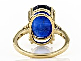 Blue Kyanite 14k Yellow Gold Ring 8.50ct