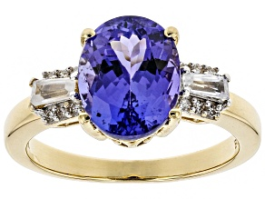 Blue Tanzanite 14K Yellow Gold Ring 2.74ctw