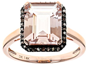 Pink Morganite 14k Rose Gold Ring 4.00ctw