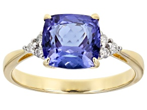 Blue Tanzanite 14k Yellow Gold Ring 2.18ctw