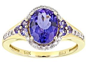 Blue Tanzanite 14k Yellow Gold Ring 2.03ctw