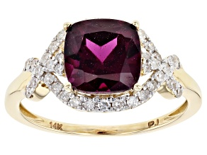 Purple Garnet 14k Yellow Gold Ring 3.28ctw